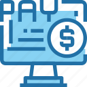 banking, computer, money, online, payment icon