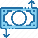 arrow, banking, business, exchange, money, payment icon