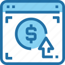banking, browser, business, click, money, pay, payment icon