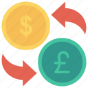 cash, currency, dollar, exchange, money icon