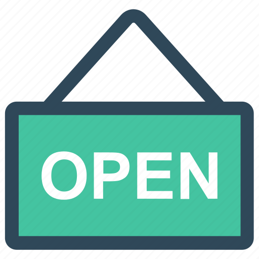 board, frame, hanging, open, tag icon