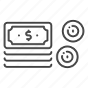 cash, coin, dollar, finance, investment, money, payment icon
