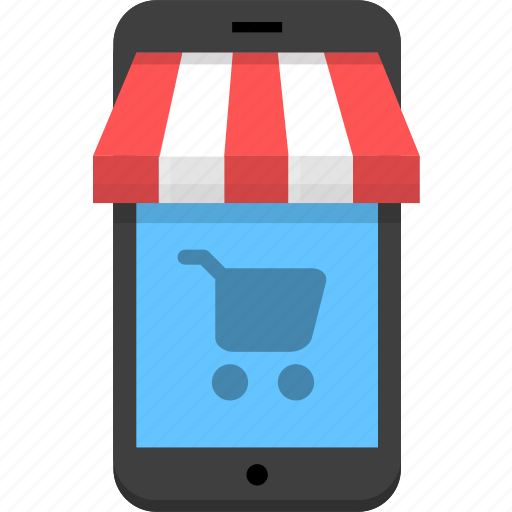 mobile, mobile store, shopping, store icon