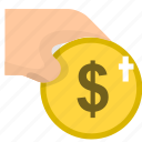 coin, finance, money, payment icon