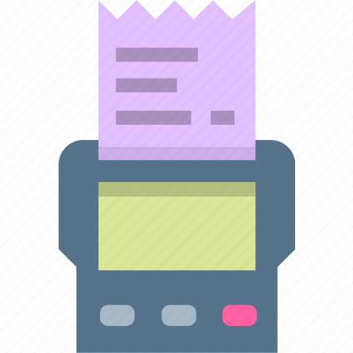 invoice, payment, pos, receipt, shopping icon