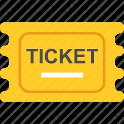 cinema, film, movie ticket, ticket icon