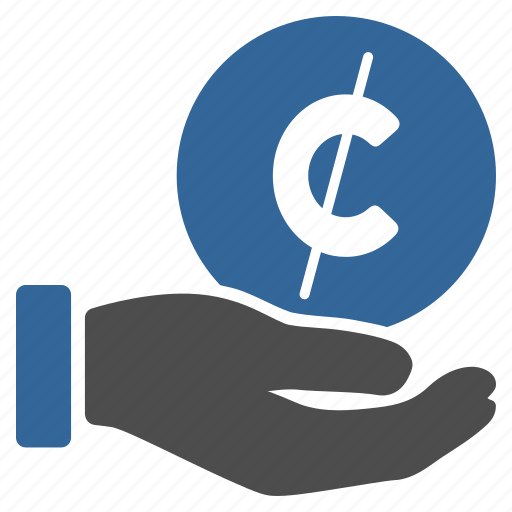 cent, finance, hand, micropayment, pay money, payment, shopping icon