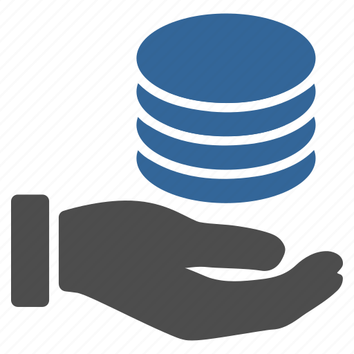 coins, donate, donation, hand, money support, payment, salary icon