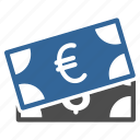 bank notes, banking, banknotes, business, cash, currency, euro money icon