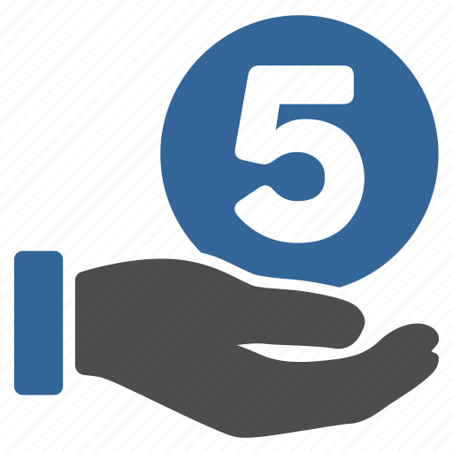 donate, donation, finance, five cents, hand, pay, payment icon