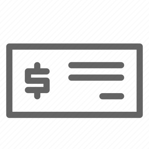 bank, check, cheque, payment icon