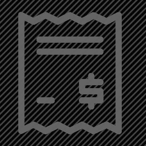 bill, invoice, receipt, tax icon