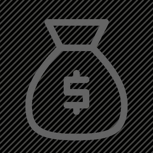 bag, earnings, funds, money icon