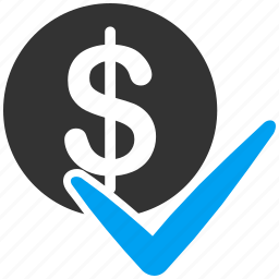 accept, approve, finance, financial, payments, process icon