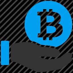 bitcoin, crypto, currency, hand, pay, thai baht, thailand icon