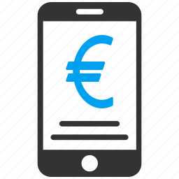 euro, expences, money, pay, payment, smartphone, transaction icon