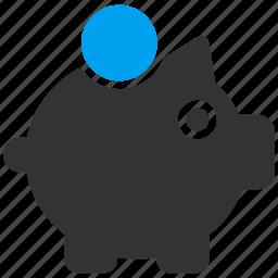 banking, deposit, pig, piggy bank, safe, storage, treasury icon