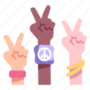 peace, hand, human, victory, finger, two, freedom
