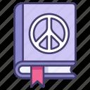 peace, book, education, culture, faith, bird, religion icon
