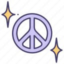 peace, love, peaceful, hippie, hand, pacifist, war icon