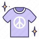 peace, t, shirt, love, happy icon