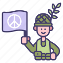 soldier, peace, war, army, military, independence, flag icon