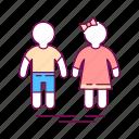 boy, children, girl, pediatrics, people icon