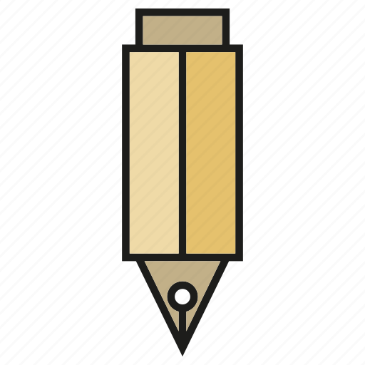 fountain pen, office tool, painting tool, pen, penncil, stationery, writing icon