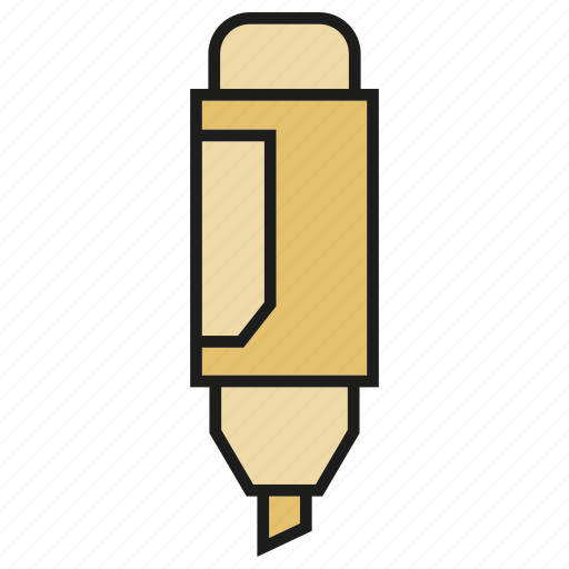 marker, office tool, painting tool, pen, penncil, stationery, writing icon