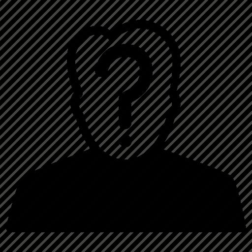anonymous, head, incognito, profile, unknown icon