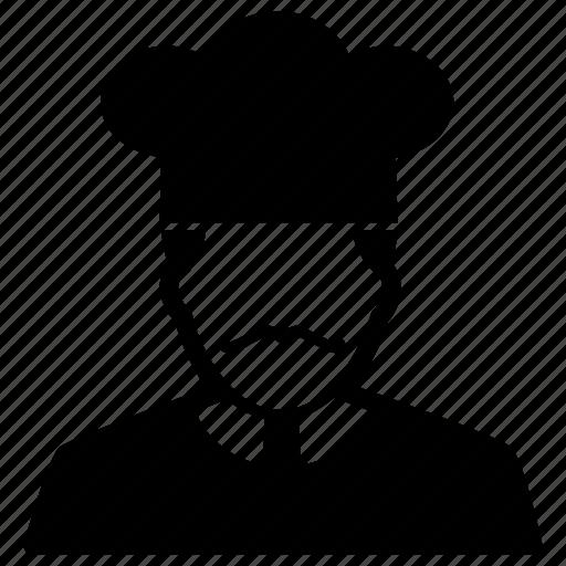 avatar, chef, cook, hat, kitchener, toque icon