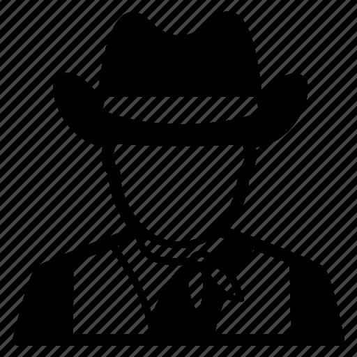 avatar, cowboy, cowherd, face, hat, man, western icon