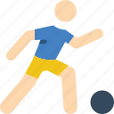 ball, football, man, sports, stick figure icon