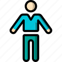 man, plain, standing, stick figure icon