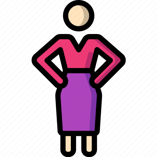hands, hands on hips, hips, on, standing, stick figure, woman icon