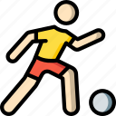 ball, football, man, sports, stick figure icon
