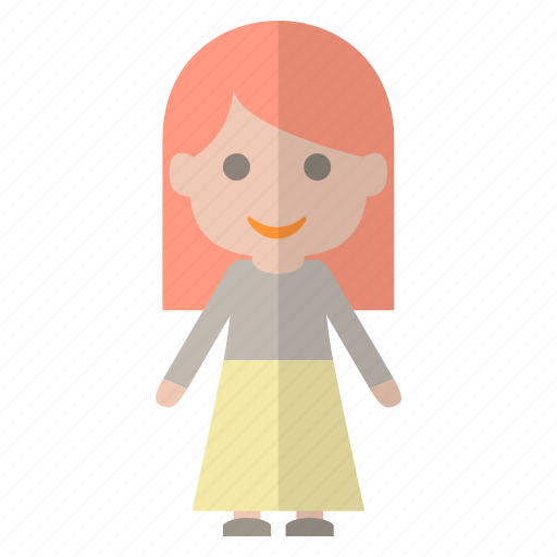 avatar, girl, people, redhead icon