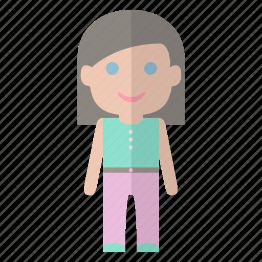 lady, people, sim, woman icon