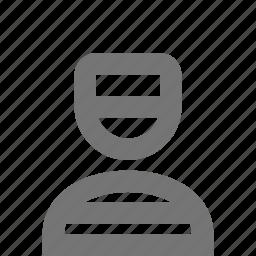 criminal, inmate, prisoner icon