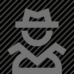 detective, private investigator, spy icon