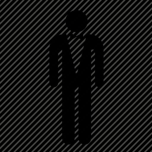attire, elegant, formal, gala, man, people, suit icon