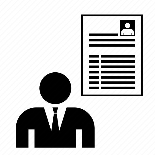 businessman, candidate, curriculum, cv, job, man, profile icon