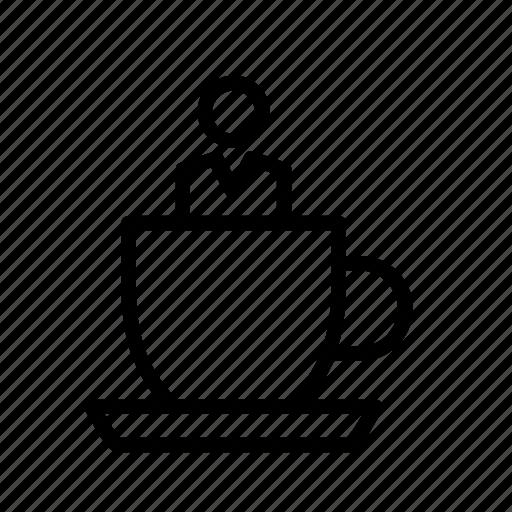 amusement, man, park, people, person, ride, teacups icon