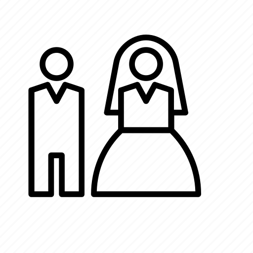 Bride, groom, love, people, person, wedding icon - Download on Iconfinder