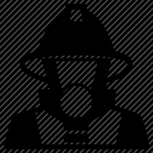 avatar, fighter, fire, firefighter, fireguard, fireman, user icon
