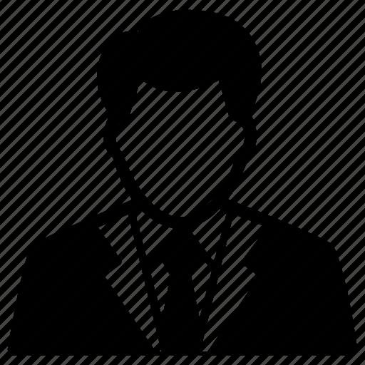 businessman, marketer, person, salesman, user icon
