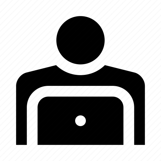 human, laptop, people, user icon
