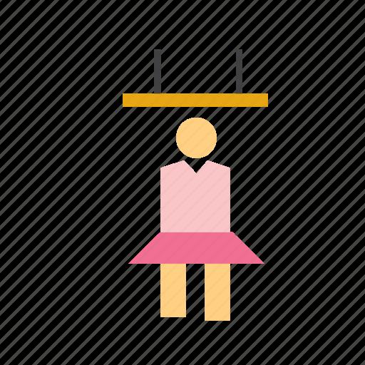 acrobat, acrobatics, circus, flying, people, trapeze, woman icon