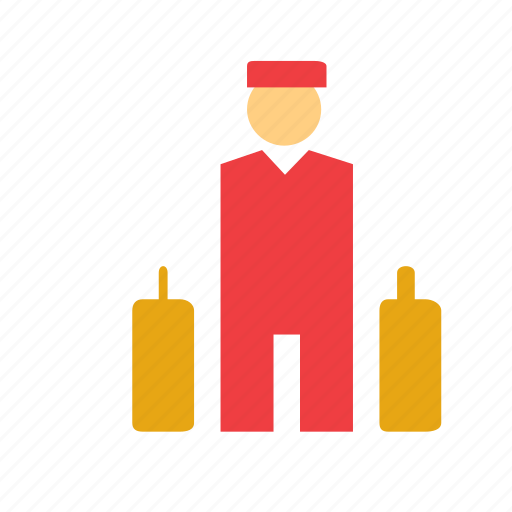 bellboy, bellhop, boy, hotel, man, people, person icon