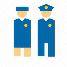 capitain, crew, flyght, man, people, police, woman icon